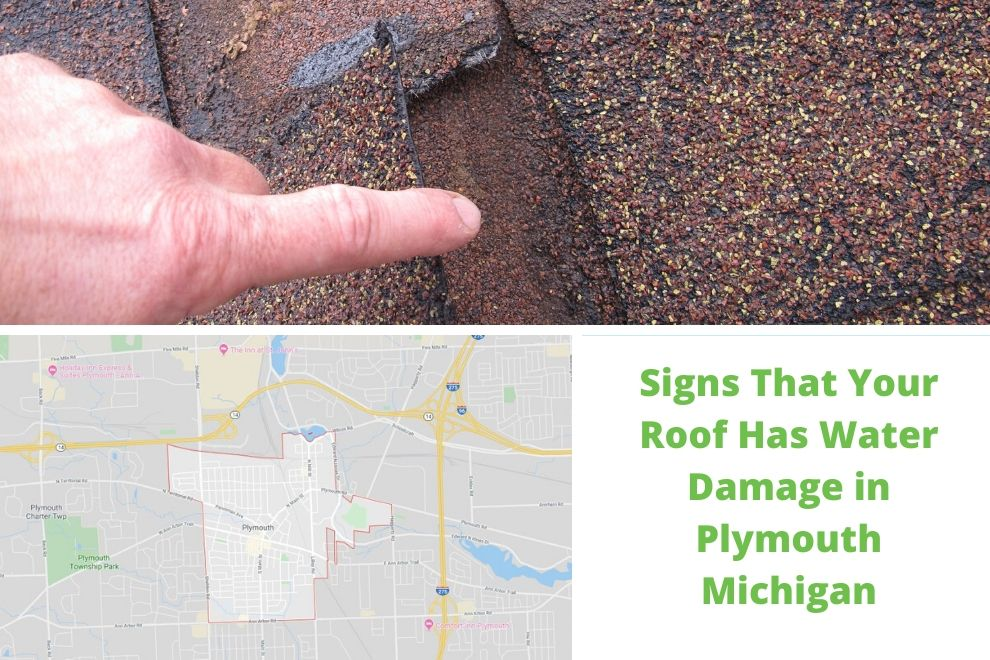 Signs That Your Roof Has Water Damage in Plymouth Michigan