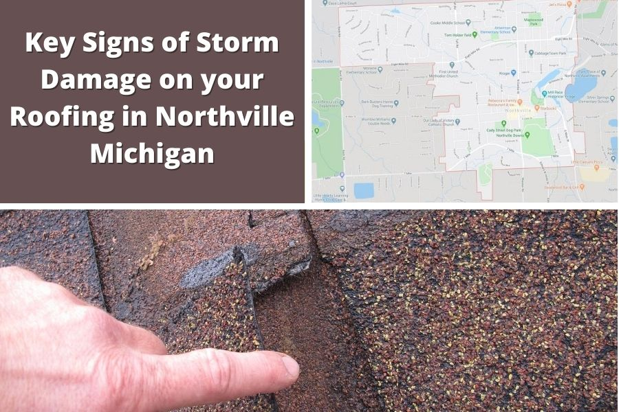 Roof Damage in Northville MI